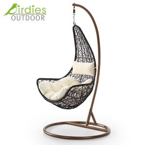 Birdies Factory Off Egg Design - Silla de columpio para patio, interior, de ratán
